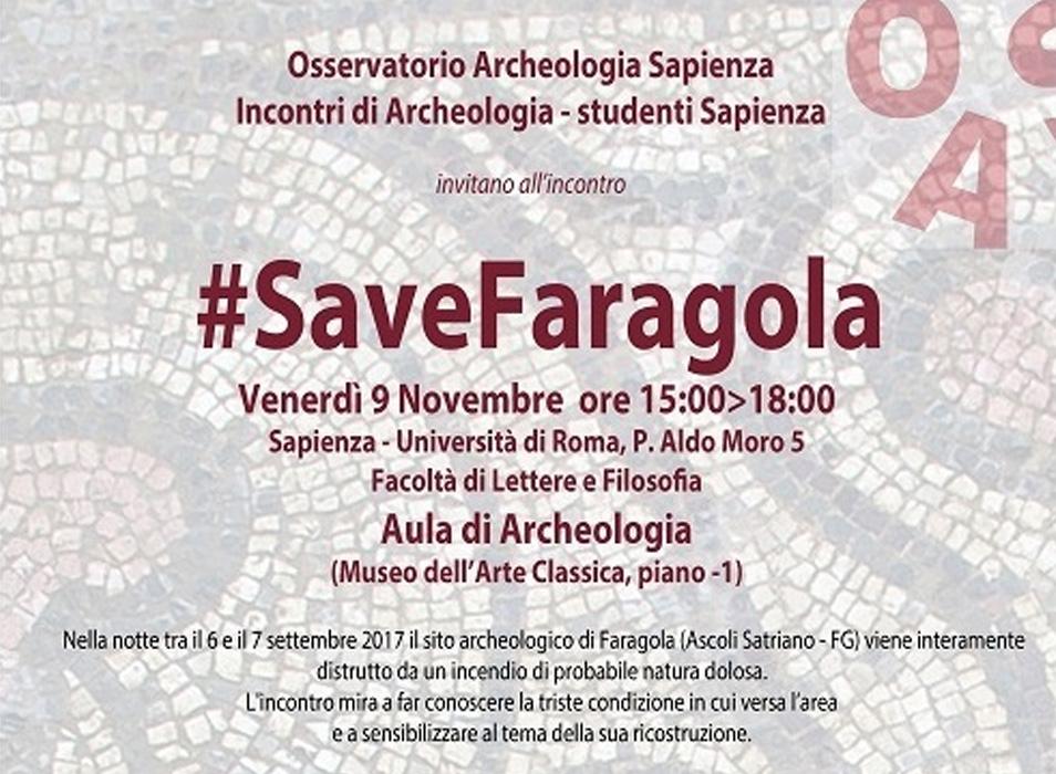 CON LA SAPIENZA PER #SAVEFARAGOLA