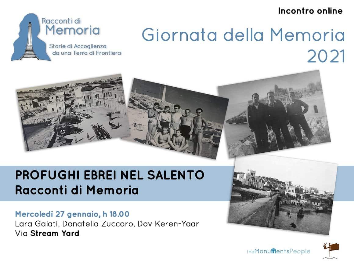 Profughi ebrei nel Salento. Racconti di Memoria
